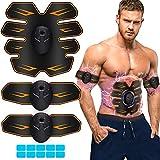 EMS Stimolatore Muscolare,Addominale Tonificante Cintura ABS, Trainer Wireless Portatile per Addome/Braccio/Gamba per Uomo o Donna