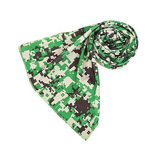 Verlike raffreddamento, asciugamano camouflage Cool per uomini donne–evaporazione Chilly asciugamano per yoga Golf Travel, Green
