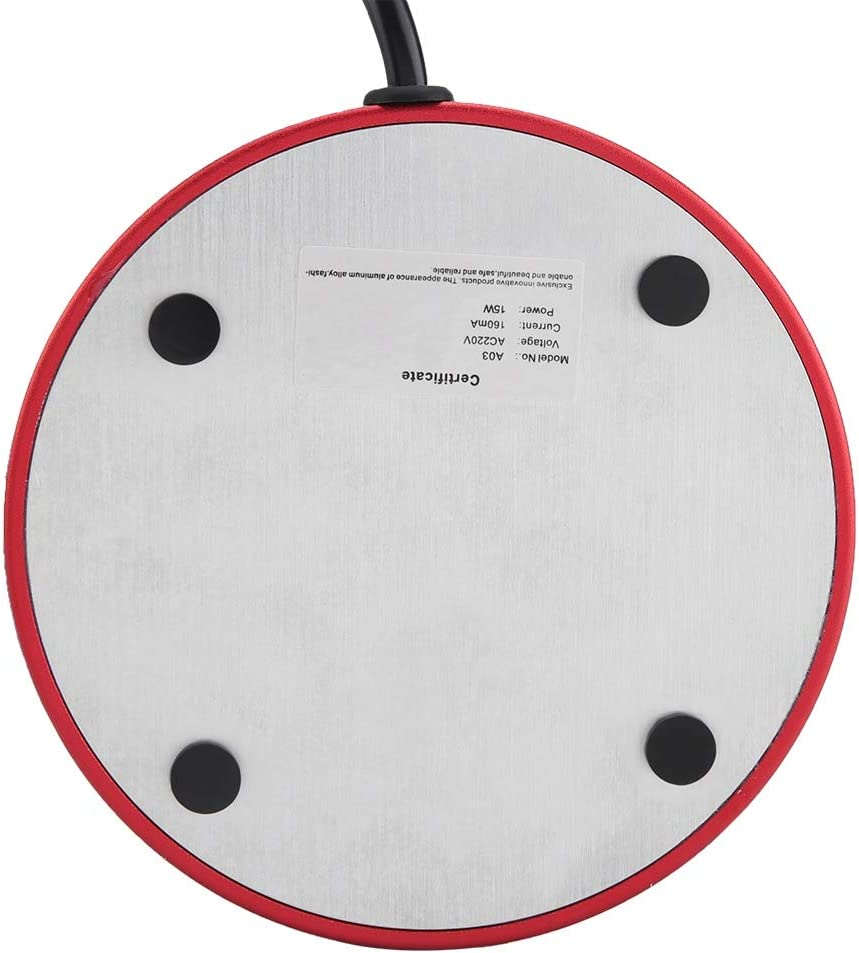 Almohadilla El/éctrica Para Calentador de Tazas T/é de Escritorio Taza de Leche de Caf/é Bandeja de Calentador de Temperatura Constante 220-240V Eu Plug-Red