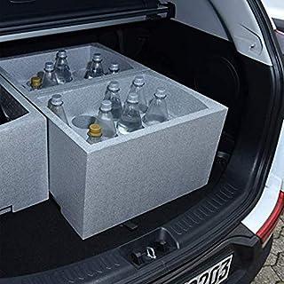 SoBazar - Étagère à vins - Casier Range Porte Bouteilles empilables en polystyrène - 35 x 29,5 x 50 cm 12 Bouteilles