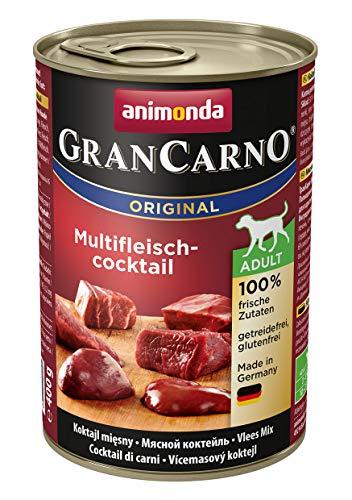animonda Gran Carno adult Hundefutter, Nassfutter für erwachsene Hunde, Multifleisch-Cockail,  6 x 400 g