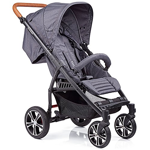 Gesslein S4 304110749000 Kinderwagen Air Plus, Schwarz (Dark Petrol)