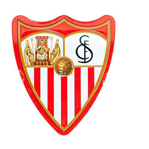 Sevilla Fútbol Club- Caja de bombones de chocolate con leche lata. Peso 100 gr. 16 motivos para...