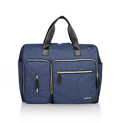 60% OFF NEW launch promotion The Largest diaper bag is enough for twins, hospital labor bag, overnight bag Blue Size: XL