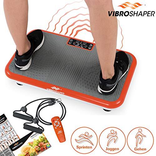 Mediashop VibroShaper, Vibrationsplatte, Ganzkörper Training | 3 Stufen, 99 Geschwindigkeiten, Fernbedienung, Trainingsbänder, Ernährungsplan, Übungsplan | Das Original aus dem TV (ohne Griff)