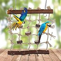 バランスと調整能力を開発し、インストールが簡単な鳥のおもちゃ、オウムのおもちゃ、インコのオウムの多くのグリッドが含まれています