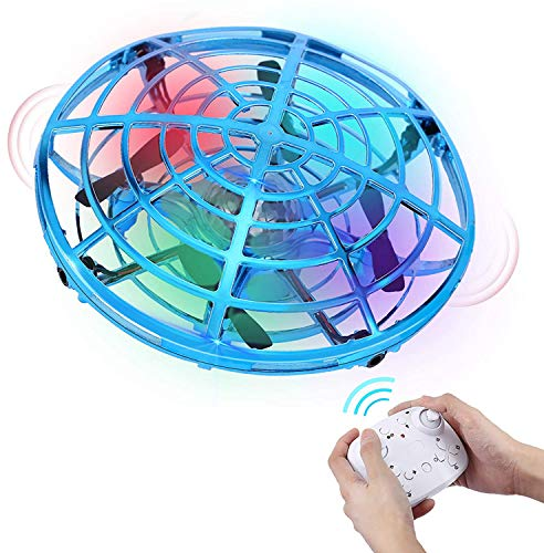 HAAYOT Mini Drone for Kids Remote Control Flying Toys with LED Lights Hand Free Aircraft with USB Rechargeable UFO Toys for Boys and Girls