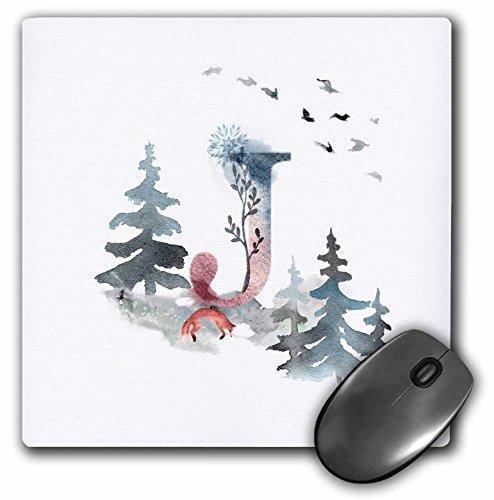 3dRose mp_275505_1 muismat, letter J, personaliseerbaar, met letters, 20 x 20 cm, meerkleurig