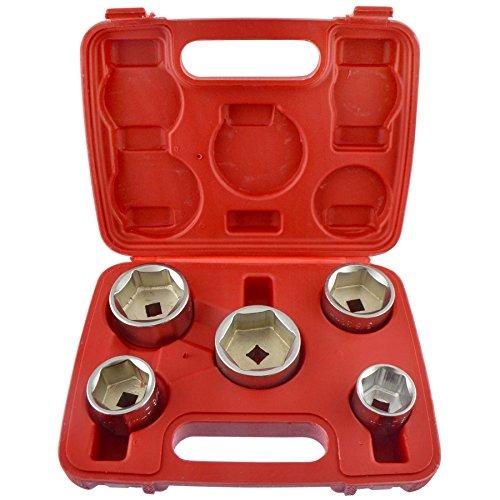 AB Tools-Neilsen Support de Filtre à Huile/Suppression/Outil de Suppression de Type Coupe 24mm - 38mm 5pc Set UN136