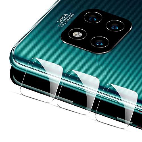HJX Kamera Panzerglas Schutzfolie für Huawei Mate 20 Pro, Kratzfester, Blasenfrei, 9 Härte HD Transparenz Kamera Objektiv Tempered Glass Displayschutzfolie für Huawei Mate 20 Pro [3 Stück]