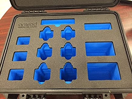 QTY 10 Pelican 1500 cases with custom foam inserts, with laser engraved logos & part numbers
