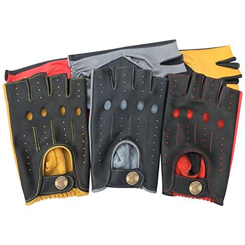 Prime Mitaines demi-doigts pour la conduite, le cyclisme, la gymnastique, le sport - Multicolore - 316 (noir/gris, S)
