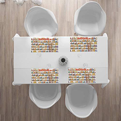 Tovagliette Lavabili,Libreria moderna, libreria con una scuola di educazione scolastica Campus Life,Tovagliette Non-scivolose Resistenti al calore, Set da 4 Tovagliette per Tavolo da Cucina 30 x 45 cm