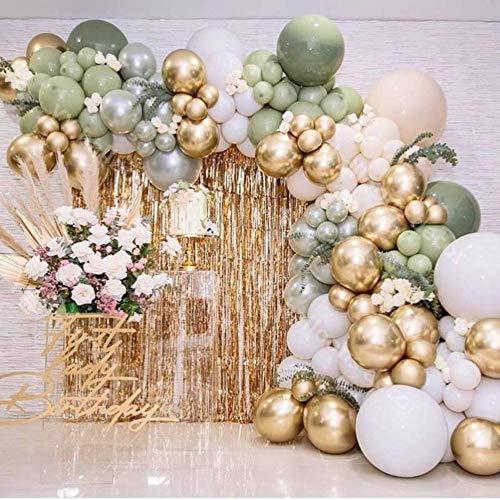 N/F Metallic Gold Global DIY Luftballons Garland Arch Retro Grüne Haut Globos Geburtstag Hochzeitstag Party Dekoration Baby Shower