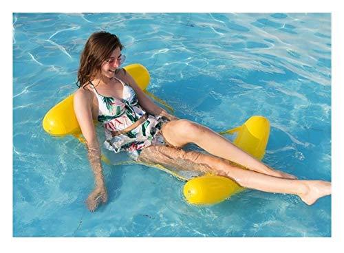 JLZK Sicurezza Piscina Gonfiabile Galleggiante Bed Piscina Materasso ad Acqua Hammock Float Lounger Giocattolo Sedia Gonfiabile di Anello di Nuoto Pool Party .Precisione (Color : Yellow)
