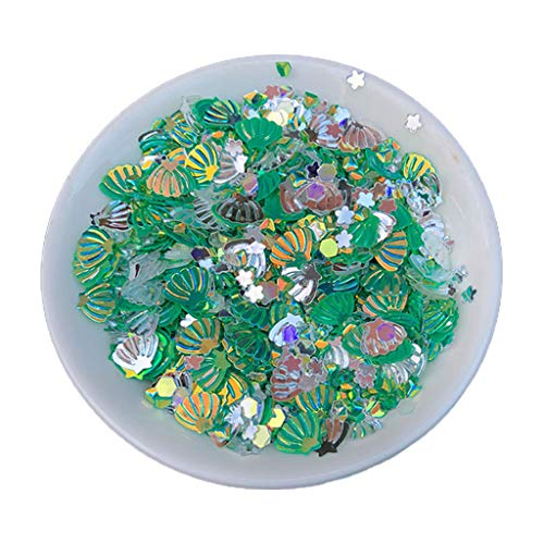 GREEN&RARE Mezcla de purpurina de PVC, molde de resina epoxi, para decoración de uñas, lentejuelas.