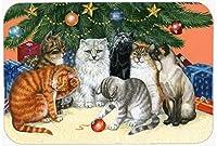 Caroline's Treasures BDBA0345MP Cats Under The Christmas Tree Mouse Pad, Hot Pad or Trivet, Large, Multicolor [並行輸入品]