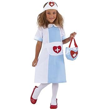 EisEyen - Disfraz de enfermera para niños, color rosa y blanco ...