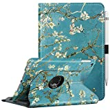 Fintie Hülle für iPad Mini 5 2019 / iPad Mini 4, 360 Grad verstellbare Schutzhülle mit Standfunktion, Auto Schlaf/Wach Funktio für iPad Mini (5. / 4. Generation), Mandelblüten