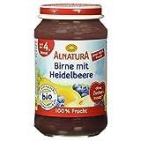 Alnatura Bio Birne-Heidelbeere, glutenfrei, 6er Pack (6 x 190 g)