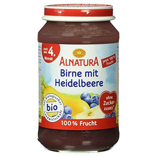 Alnatura Bio Birne mit Heidelbeere Babynahrung