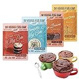 SWEET LOGIC Just Add Water Keto Mug Cake Mix   3-4g Net Carbs, One Minute Easy Keto Baking   Sugar Free Gluten Free Keto Baking Dessert Naturally Sweetened   4 Pack Variety