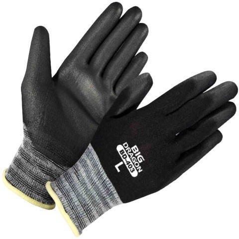 ウレタン黒背抜き手袋10双入12袋(120双) Mサイズ 汚れが目立ちにくい手袋 ウレタンゴールド まとめ買い 富士グローブ BD 403