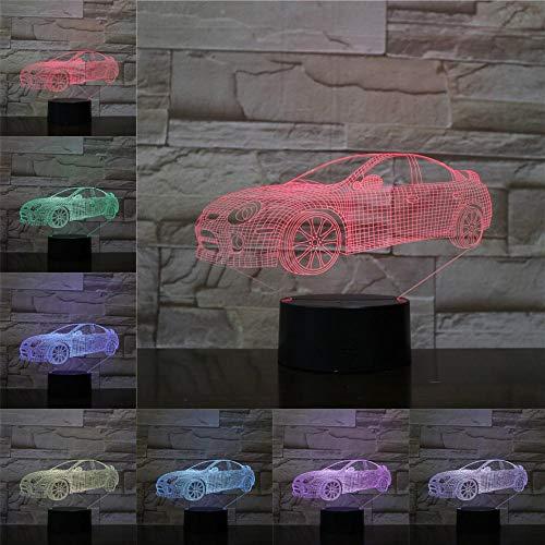 Nachtlicht 3D Tischlampe Kinder Spielzeug Geschenk Led Limousine 3D Tischlampe Kinder Spielzeug Geschenk Home Dekoration Kreative Nachtlicht Kinder Freunde Autohaus Dekoration Tischbeleuchtung Atmo
