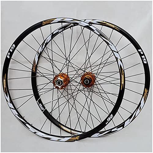 "ZPPZYE Ruedas de Bicicleta MTB 26 Pulgadas 27,5 ""29 er, Aleación Aluminio Ruedas Bicicleta Montaña Buje Rodamientos Sellados para 7/8/9/10/11 Velocidad (Size : 26 Inch)"