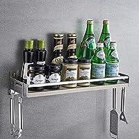 スパイスは、壁掛けスパイスストレージ304段のステンレス鋼キッチン棚をラック調味料ラックの長さをラック:300MM / 400ミリメートル/ 500MM / 600MM (Size : 500mm)