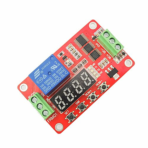 uniquegoods 5V DC Multifunction Self-lock Relay PLC Cycle Timer Module Delay Time Switch