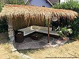 Wilai Palmendächer Strohdach Palmdach Paneele Palmschindel Palmenblätter 145 cm Reetdach für Garten, Balkon und Terrasse - 8