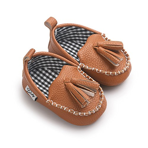 Itaar Baby Boys Girls Moccasin Slippers Loafers Soft Sole PU Leather Flats Boat Shoes