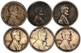 Various Mint Marks 1919 P? 1928 P 1939 P 1944 P 1946 P 1950 S Lincoln Wheat Pennies 92-Cleaning