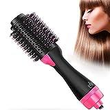 Secador de pelo, cepillo de aire caliente 3 en 1, función de rulos para el pelo, plancha de pelo,...