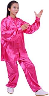 Tai Chi Uniform - luxurious Korean Silk, stretch TaiChi suits, Traditional Tai Chi Clothing for your Tai Chi Exercise, 12 colors and styles, Black, White, Red, Pink, Claret, Shocking Pink, Gold Yellow, Light Yellow, Mazarine, Lake Blue, Light Sky Blue, Li