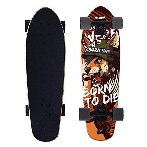 Dujie Skateboard for Kids Adult, Longboard Skateboard, 27' Complete Beginner Pro Skateboard, Maple Wood Tricks Skateboard Gift for Boys Girls 5 Up Years Old,2 (Color : 8)