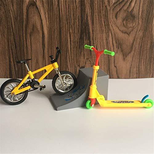 AIUII Finger BMX Mini Scooter de dos ruedas para niños, juguete educativo para bicicleta