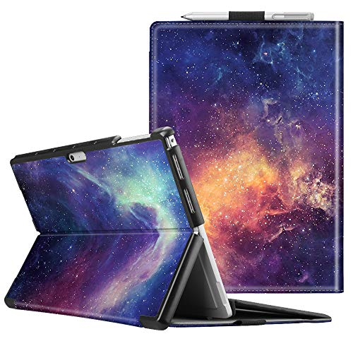 Fintie Case for Microsoft Surface Pro 7 Compatible with Surface Pro 6 / Surface Pro 5 12.3 Inch Tablet, Hard Shell Slim Portfolio Cover Work with Type Cover Keyboard (Galaxy)