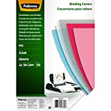 Fellowes A4 Binding Covers, PVC 150 Micron, Clear, Pack of 100