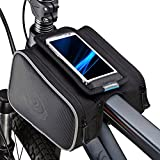 Roswheel bolso de bicicleta delantera superior del marco del tubo Pannier Doble bolsa del bolso del teléfono móvil de 4.8 pulgadas 1.8L 12813