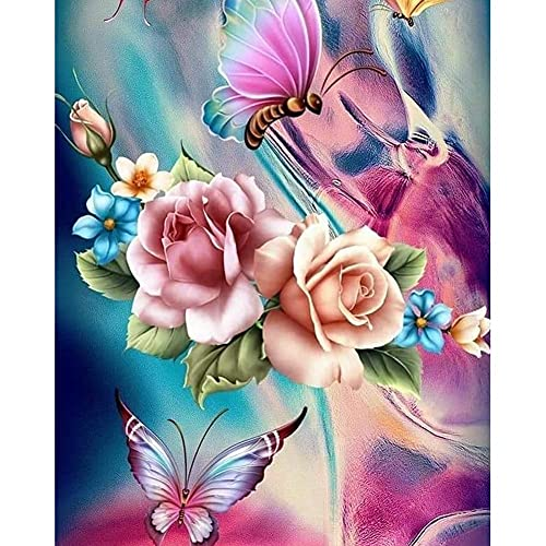 Kits De Pintura De Diamante Bricolaje Para Adultos,mariposa Diamond Painting 40x50cmbordado cristal para manualidades,punto de cruz diamante kit completo para decoración de la pared del hogar