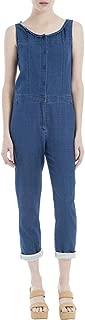 Max Studio Womens Nicolette Denim Dark Wash Jumpsuit Indigo/Blue 8