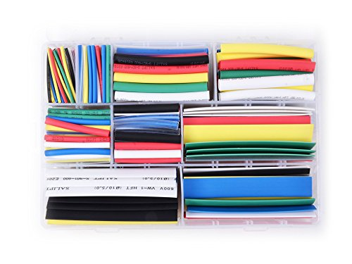 Salipt Heat Shrink Tubing 7 Colors 9 Sizes Assortment Kit (385Pcs)