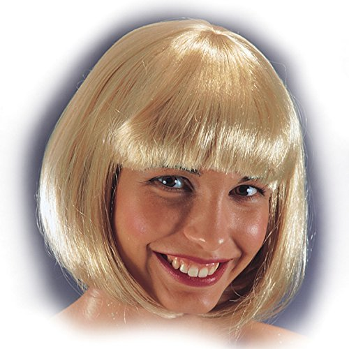 DC Perruque Carre Pin Up 60's 70's 80's - Frange - Synthetique - Blond - 25