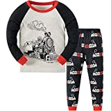 Qzrnly Niño Pijamas Dos Piezas PJs Manga Larga Pijama, 1-8 Años