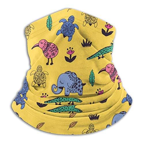 Calentador de Cuello Animales Coloridos Calentador de Cuello Pasamontañas a Prueba de Viento Capucha de Lana Sombreros de Invierno UV Gratis