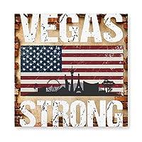 Vegas Strong 木製 額縁 フォトフレーム 壁掛け 木製 横縦兼用 絵を含む 40×40cm