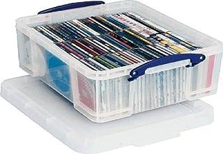 REALLY USE BOX Boîte plastique 18 L (L)480 x (P)390 x (H)200 mm couvercle amovible Transparent