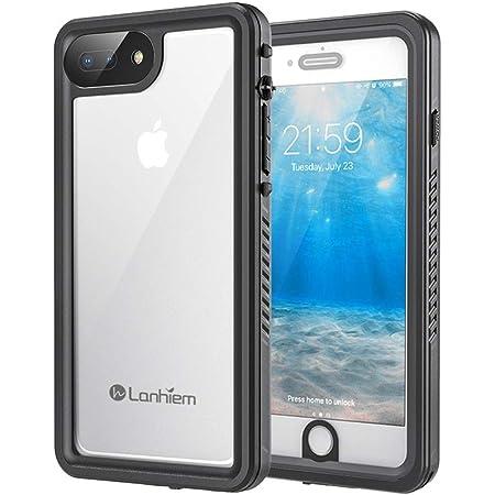 Lanhiem Cover iPhone 7 Plus,Cover Impermeabile iPhone 8 Plus[IP68 Certificato Waterproof] Full Body con Antiurto Antineve Antipolvere AntiGraffio Caso ...